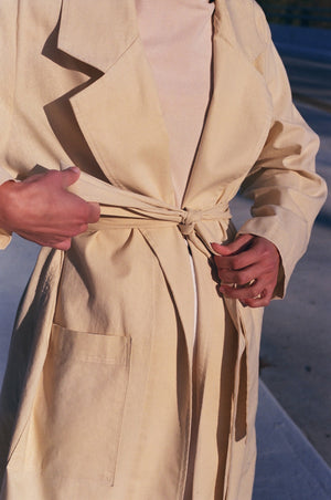 Na Nin Christine Linen Cotton Coat / Available in Butter & Camel