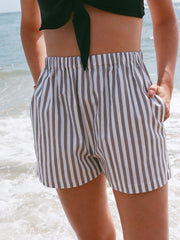 Na Nin Samantha Cotton Striped Shorts