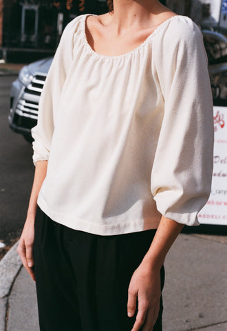 Na Nin Stella Raw Silk Long Sleeve / Second Edition / Available in Cream & Black