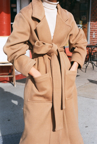 Na Nin Christine Coat / Deadstock Camel Wool