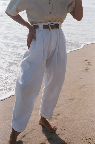 Na Nin Townes Linen Cotton Trouser / Available in Multiple Colors