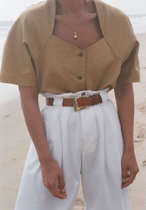 Na Nin Thelma Linen Cotton Top / Available in Multiple Colors