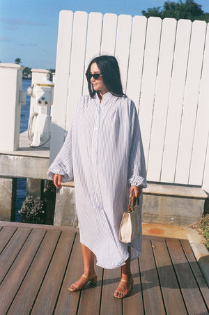 Na Nin Gloria Striped Tunic Dress