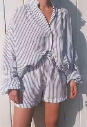 Na Nin Samantha Striped Drawstring Shorts