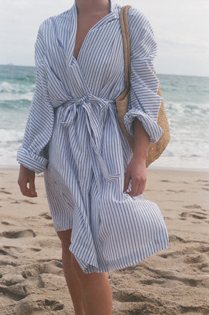 Na Nin Jane Striped Robe Coat