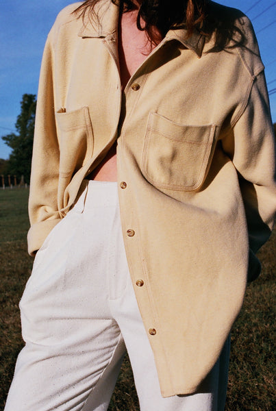 VINTAGE BUTTER THICK COTTON JACKET