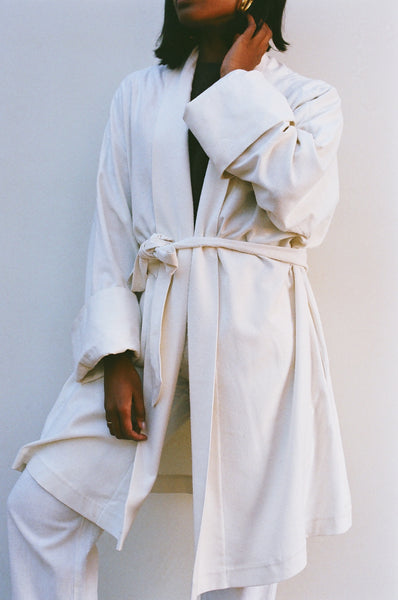 Na Nin Raw Silk Jane Wrap Coat - Available in Multiple Colors