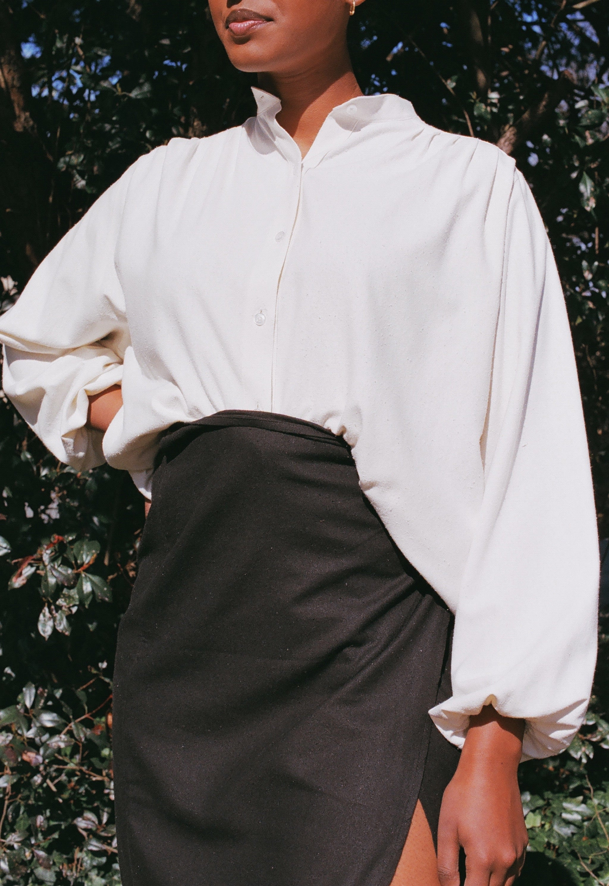 Na Nin Gloria Raw Silk Blouse