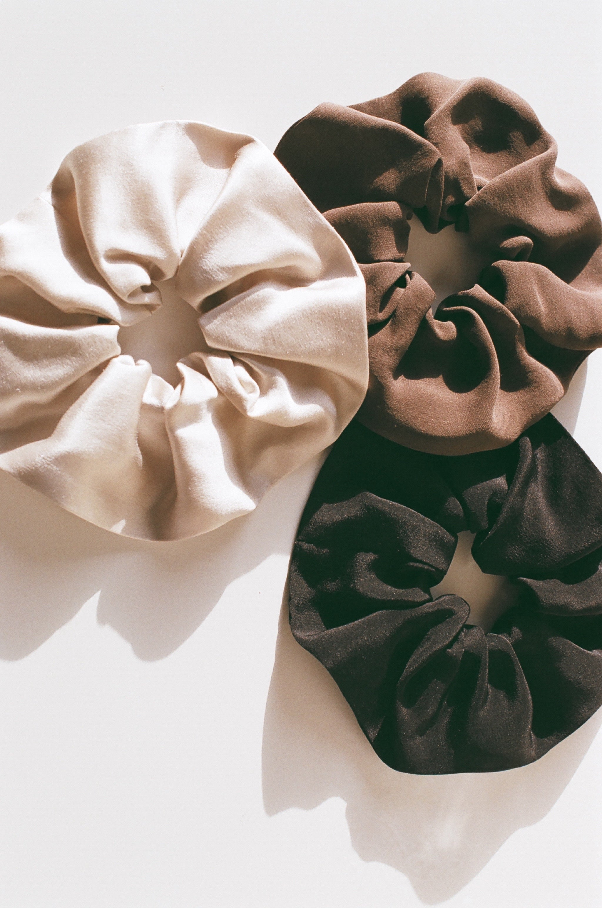 Winden Repurposed Silk Scrunchies / Available in Multiple Colors
