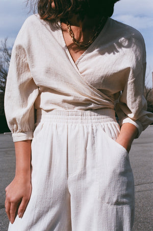 Esby Colette Wrap Top / Natural
