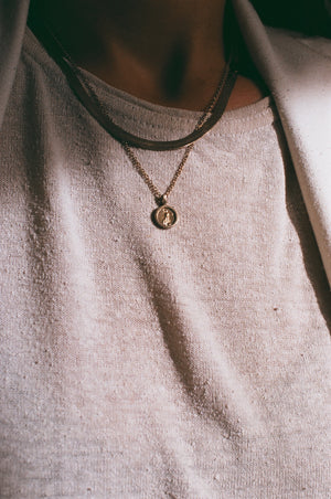 Na Nin Mini Coin Pendant Necklace