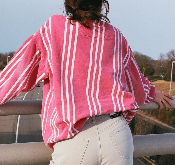 Vintage Cotton Striped Pullover