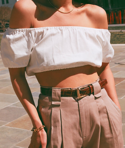 Na Nin Stella Cotton Crop Top / Available in Multiple Colors