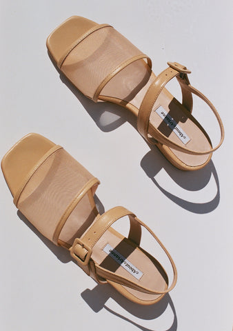 About Arianne Marini Mesh Sandal / Nude