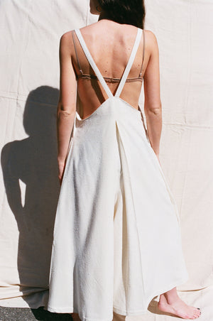 Na Nin Elizabeth Raw Silk Jump Suit / Cream or Black Raw Silk