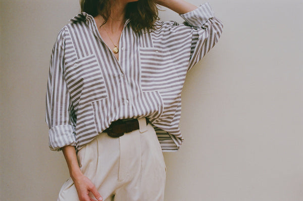 PRE-ORDER Na Nin Gwen Striped Button Up