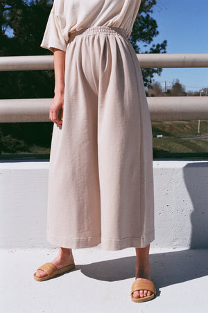 Ilana Kohn Caroline Pant / Available in Oat + Chalk