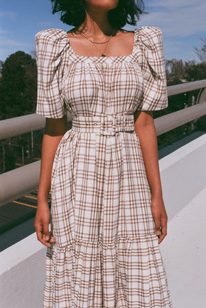 Mr. Larkin Ode Dress / Curtain Plaid