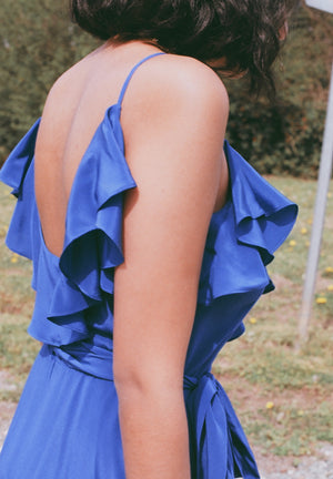 Beatrice Valenzuela Alcatraz Dress / Cobalt Silk