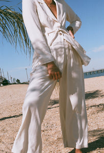 Na Nin Penelope Raw Silk Pant / Available in Cream & Black