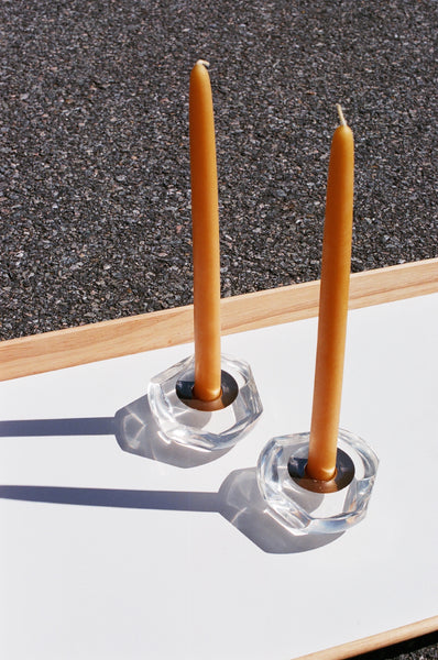Vintage Lucite Candle Holders