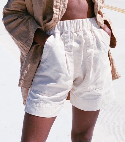 MICAELA GREG UTILITY SHORT / AVAILABLE IN CAMEL AND CREAM