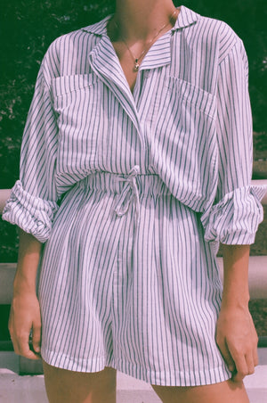 Na Nin Striped Clarke Button Up