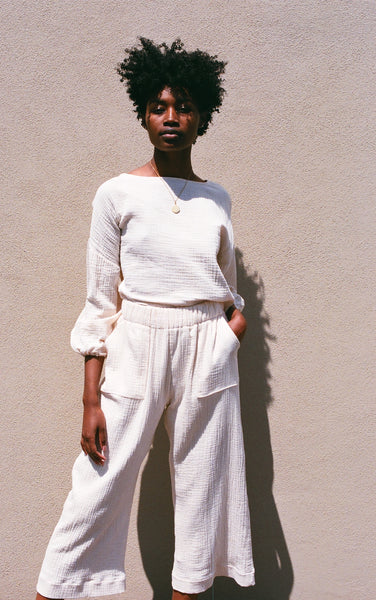 Hackwith Design House Easy Wide Leg Pant / Ivory