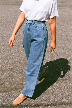 Amomento Wide Fit Denim / Blue