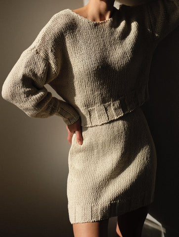 Paloma Wool Tratame Sweater Available in Off White & Peach