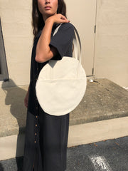 Lotfi Large Circle Tote / Natural