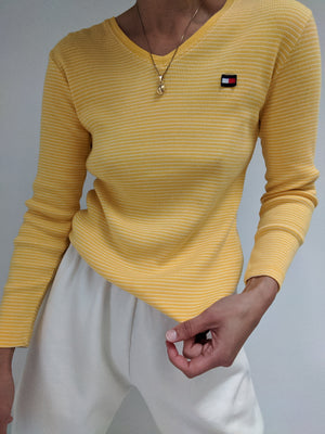 Tommy Hilfiger Marigold Striped Long Sleeve