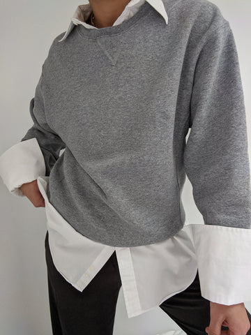 90s Heather Grey Russell Sweatshirt