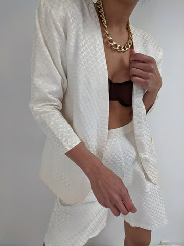 Vintage Favorite Ivory Patterned Short Set