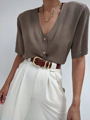 Vintage Textured Silk Blouse