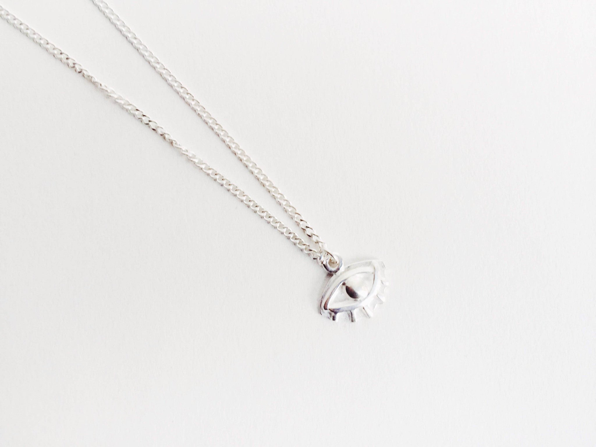 EVIL EYE SILVER CHARM NECKLACE