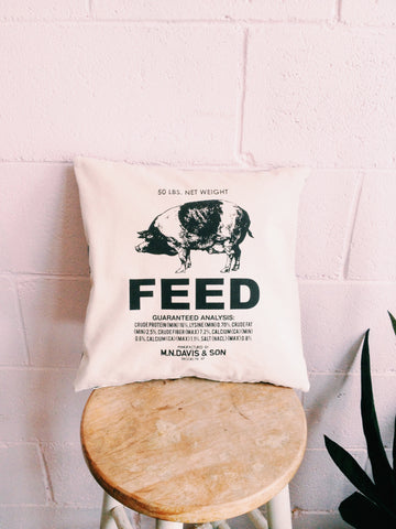 Pig Feed Cushion Cover