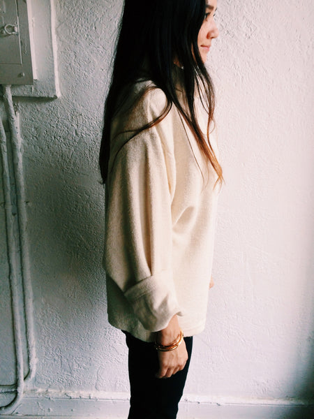 LAUREN WINTER OLIVE PULLOVER