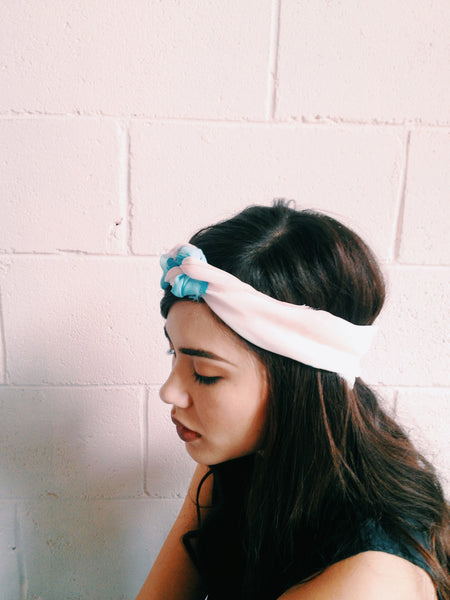 PUDDLE SPLASH HEAD SCARF//LIGHT