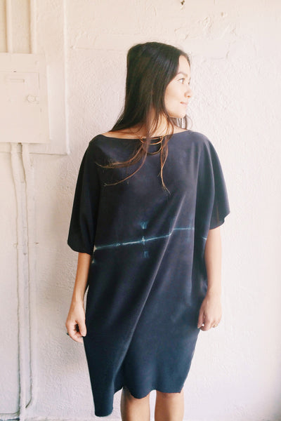 willow knows Night Sky Blue Cocoon Dress