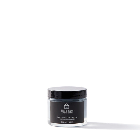 LITTLE BARN APOTHECARY / COCONUT ASH + EARTH DEEP CLEANSING MASK