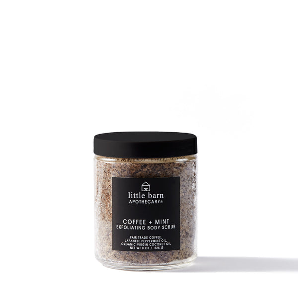 LITTLE BARN APOTHECARY / COFFEE + MINT EXFOLIATING SCRUB