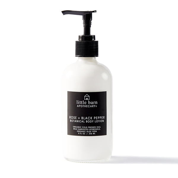 LITTLE BARN APOTHECARY / ROSE + BLACK PEPPER BOTANICAL BODY LOTION