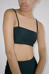 NU SWIM STRAIGHT TOP / BLACK