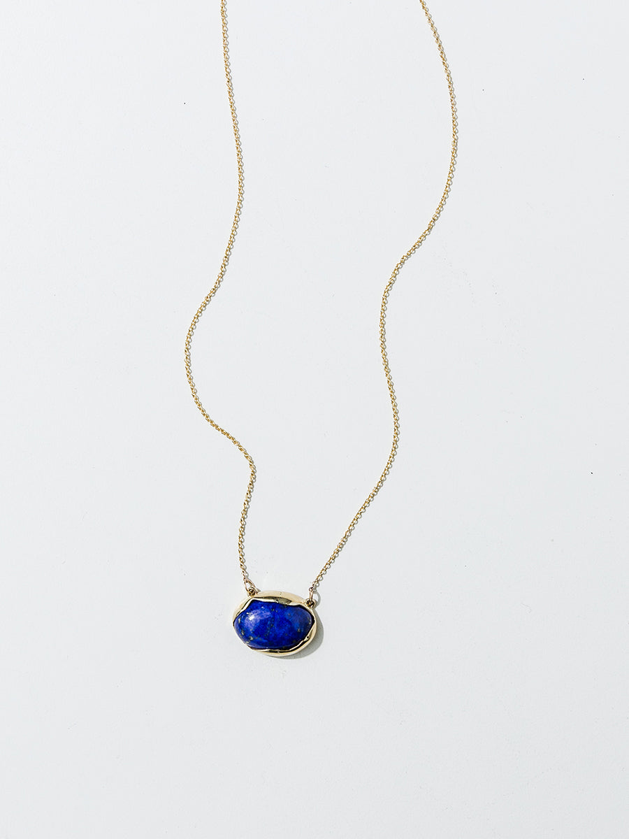 Faris Ovo Necklace / Bronze + Lapis