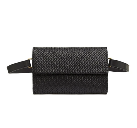 St. Agni Marcel Woven Belt Bag / Available in Antique Tan & Black
