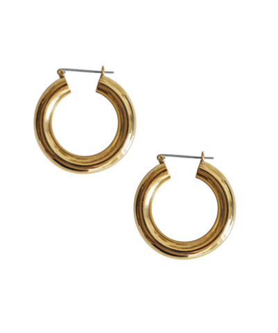 Laura Lombardi Round Hoop Earrings