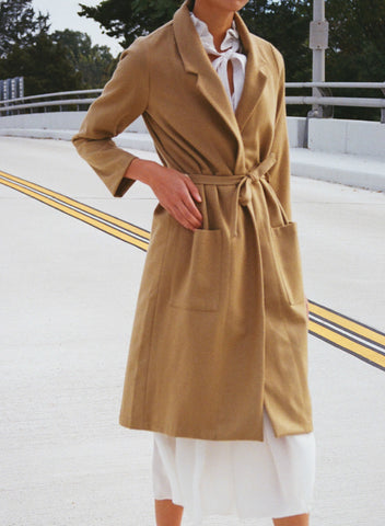 ALI GOLDEN WOOL NOTCH COAT / CAMEL