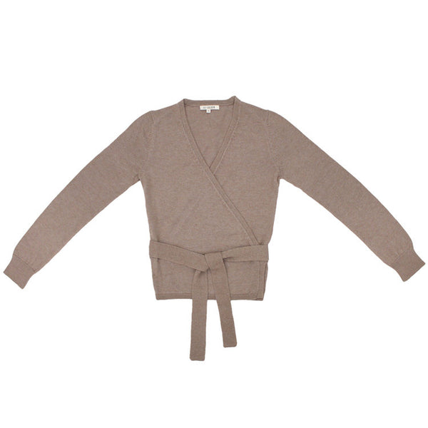 ALI GOLDEN BALLET SWEATER / TAUPE