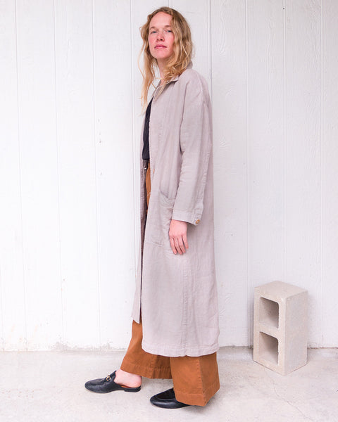 ESBY APPAREL BARONNE LINEN DUSTER / SKY